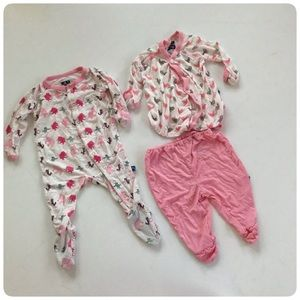 Kickee Pants 3 piece bundle lot 3/6 months